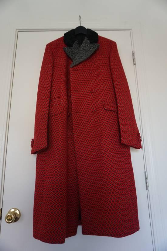 Prada red jacquard coat 2012 fall runway Size US M / EU 48-50 / 2 - 9