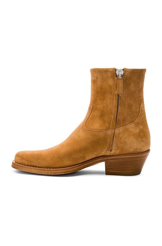 Raf Simons EU43 - Caramel Brown Calf Leather Suede Western Boots - SS18 Size US 10 / EU 43 - 18