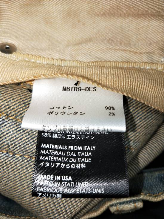 Amiri Dirty Indigo Glitter Track Jeans Size US 31 - 8