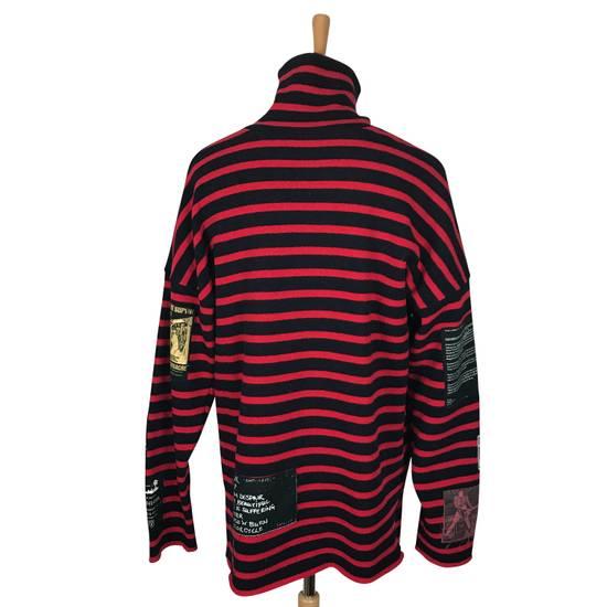 Raf Simons striped patched turtleneck aw 01 02 riot Size US M / EU 48-50 / 2 - 2