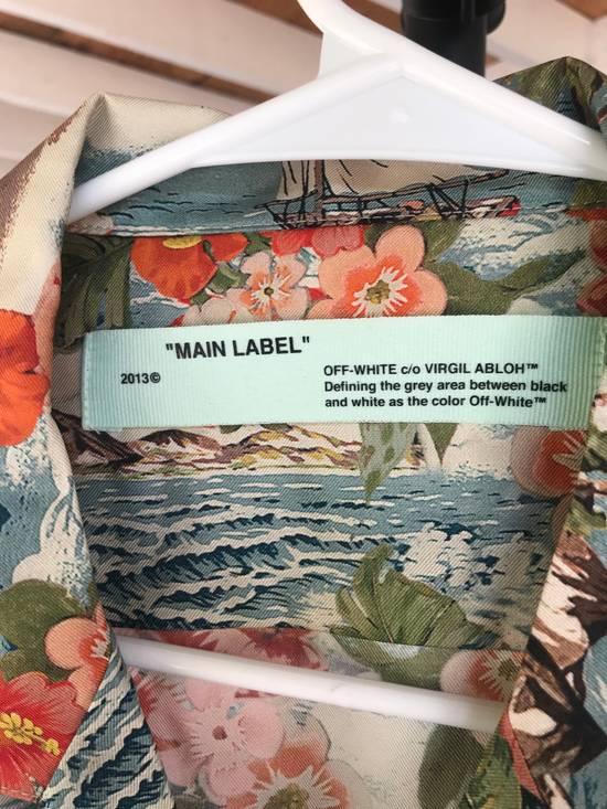 Off-White Off White Silk Hawaiian Shirt Size US L / EU 52-54 / 3 - 1