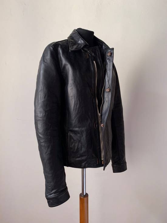 Carol Christian Poell CCP SS '07 Paranoid Collection - Overlock Leather Jacket Size US S / EU 44-46 / 1 - 1