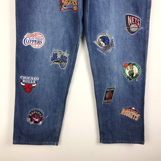 Vintage 💥NEED GONE💥BD7 Vintage All Team NBA Fullprint Denim Pants Size US 38 / EU 54 - 2