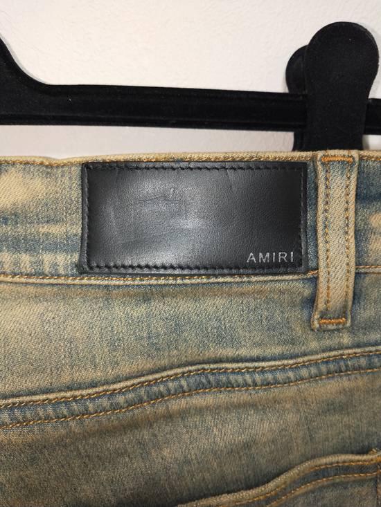 Amiri Dirty Indigo Glitter Track Jeans Size US 31 - 4
