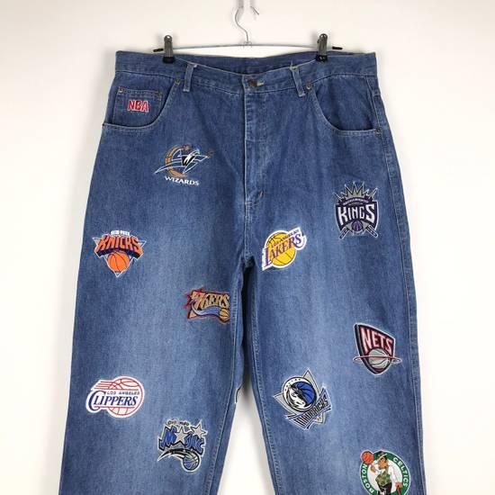 Vintage 💥NEED GONE💥BD7 Vintage All Team NBA Fullprint Denim Pants Size US 38 / EU 54 - 1