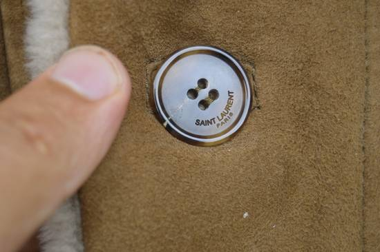 Saint Laurent Paris Hedi's Personal Suede and Shearling Coat Size US S / EU 44-46 / 1 - 5