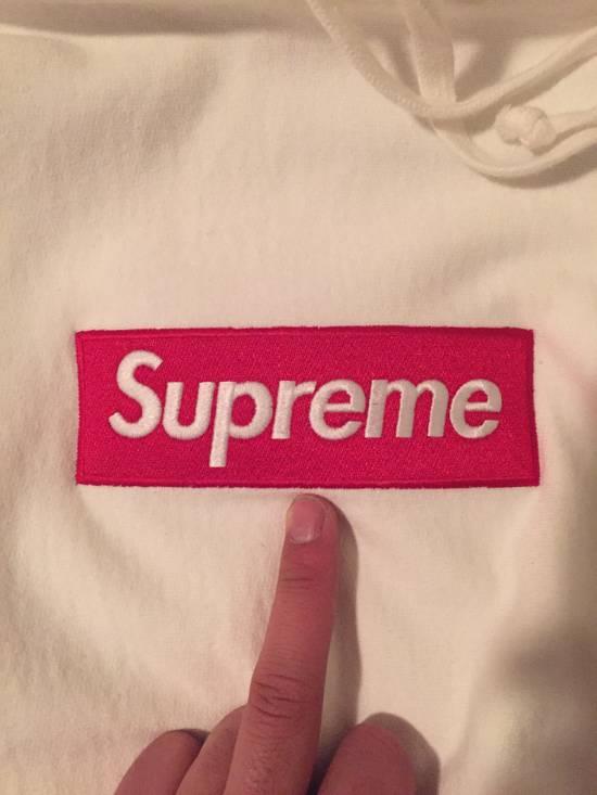 Supreme Supreme FW16 Classic Red on White Box Logo Hoodie Size US L / EU 52-54 / 3 - 2