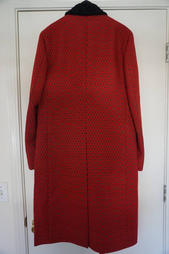 Prada red jacquard coat 2012 fall runway Size US M / EU 48-50 / 2 - 13