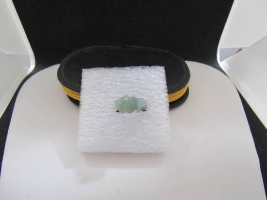 Handmade Green Jade Tibetan Silver Ring - size 5.75 Size ONE SIZE