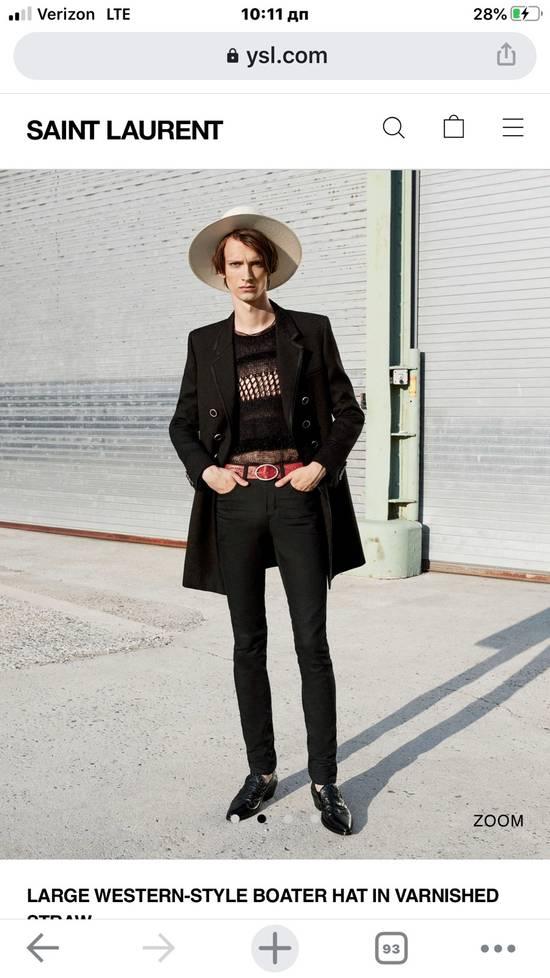 Saint Laurent Paris Saint Laurent men's western-style boater hat. 58/L. $2250 Size ONE SIZE