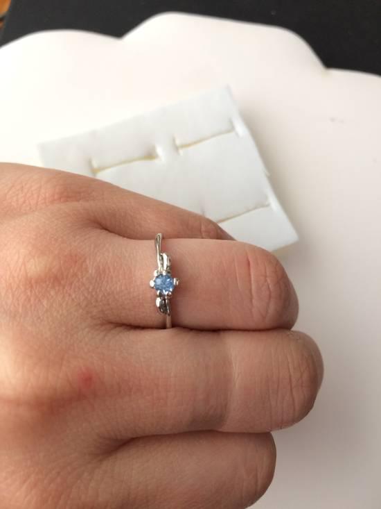 Jw Blue Cz Tibetan silver ring - size 7.5 Size ONE SIZE - 2