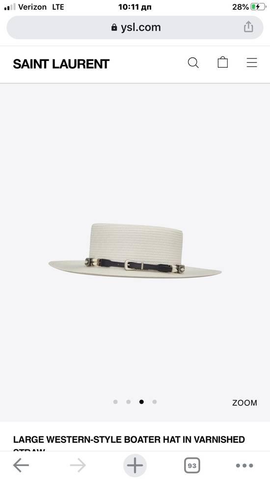 Saint Laurent Paris Saint Laurent men's western-style boater hat. 58/L. $2250 Size ONE SIZE - 1