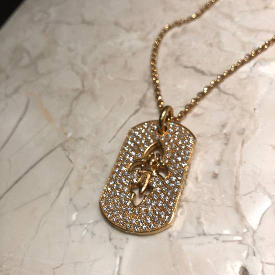 Chrome Hearts 22k Gold Dagger Dog Tag With Paved Diamonds Size ONE SIZE - 1
