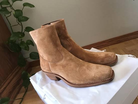 Raf Simons EU43 - Caramel Brown Calf Leather Suede Western Boots - SS18 Size US 10 / EU 43 - 3