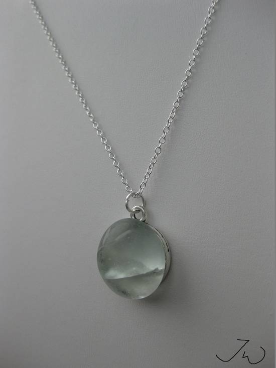 Handmade Moon glass Chain necklace Size ONE SIZE - 1