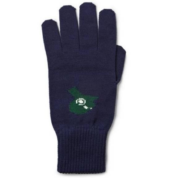 Raf Simons Merino wool jacquard glove Size 28 - 4