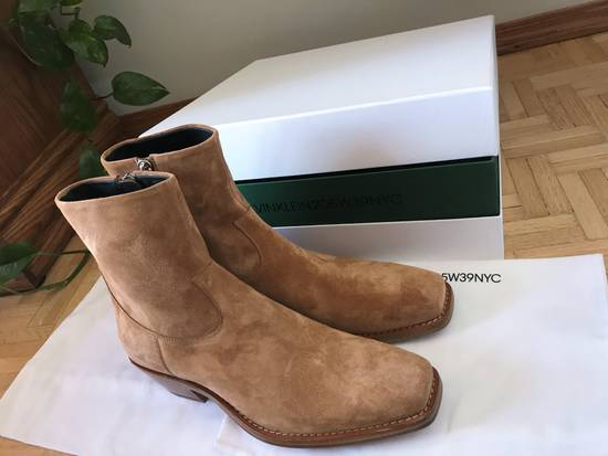 Raf Simons EU43 - Caramel Brown Calf Leather Suede Western Boots - SS18 Size US 10 / EU 43