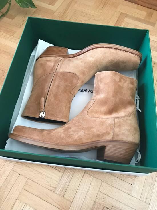 Raf Simons EU43 - Caramel Brown Calf Leather Suede Western Boots - SS18 Size US 10 / EU 43 - 2