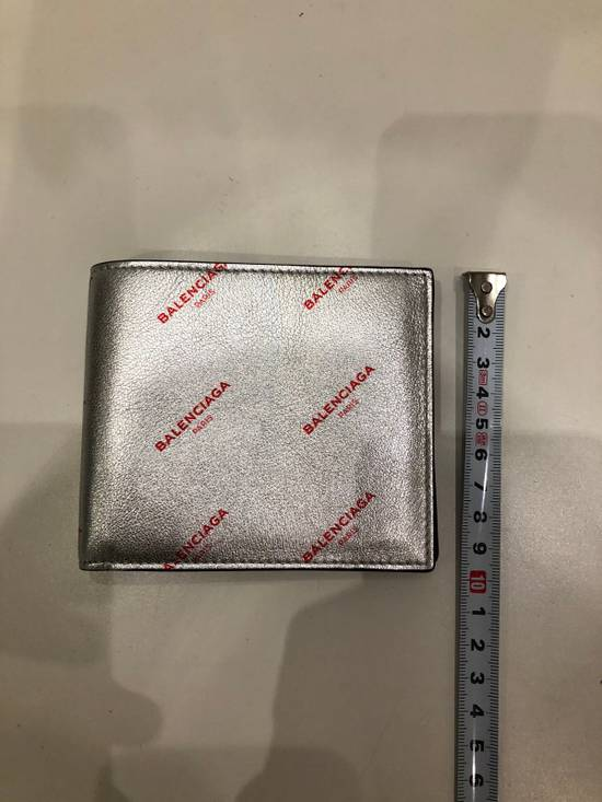 Balenciaga Silver square wallet with all over red logo Size ONE SIZE - 5