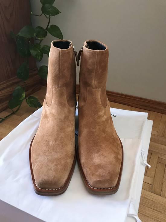 Raf Simons EU43 - Caramel Brown Calf Leather Suede Western Boots - SS18 Size US 10 / EU 43 - 4