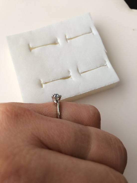 Jw Blue Cz Tibetan silver ring - size 7.5 Size ONE SIZE - 3