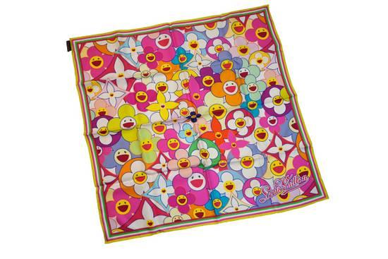Louis Vuitton Louis Vuitton x Takashi Murakami scarf flower silk ITALY Size ONE SIZE