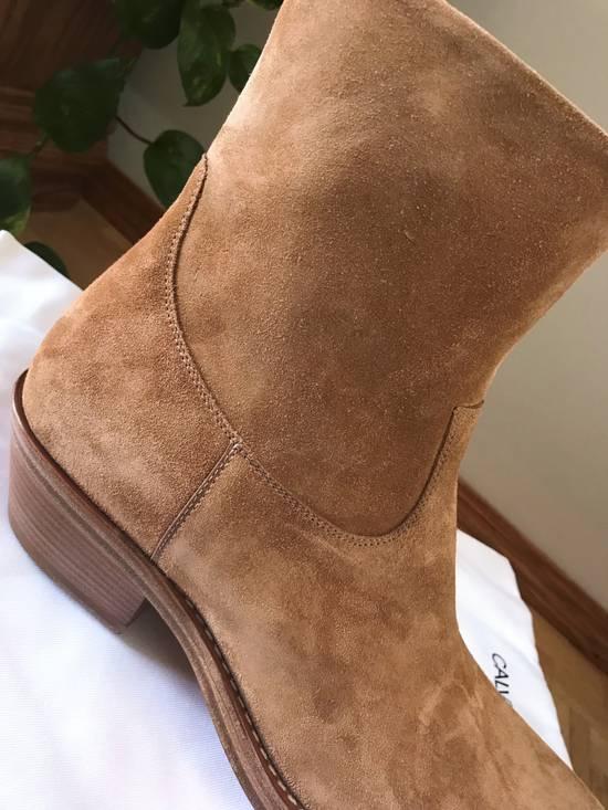 Raf Simons EU43 - Caramel Brown Calf Leather Suede Western Boots - SS18 Size US 10 / EU 43 - 10