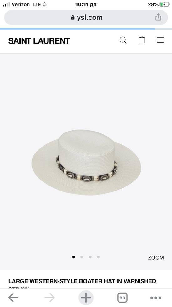 Saint Laurent Paris Saint Laurent men's western-style boater hat. 58/L. $2250 Size ONE SIZE - 2