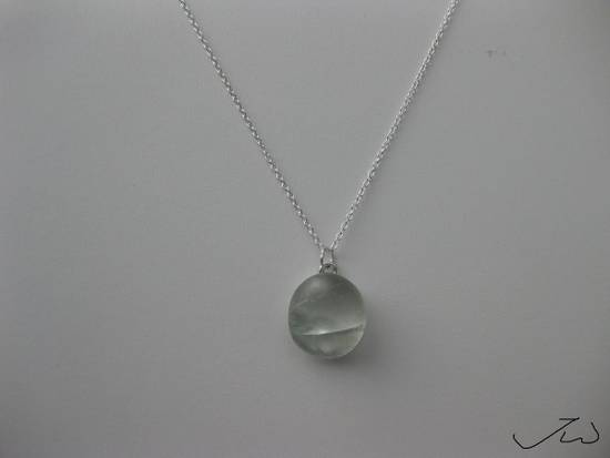 Handmade Moon glass Chain necklace Size ONE SIZE