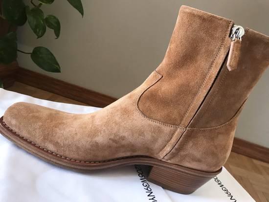 Raf Simons EU43 - Caramel Brown Calf Leather Suede Western Boots - SS18 Size US 10 / EU 43 - 9
