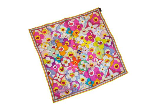 Louis Vuitton Louis Vuitton x Takashi Murakami scarf flower silk ITALY Size ONE SIZE - 3