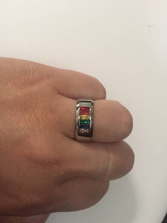 Handmade Rainbow cz stainless steel ring - US size 11.5 Size ONE SIZE - 2