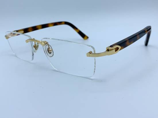 Cartier C Decor Rimless Gold Plastic