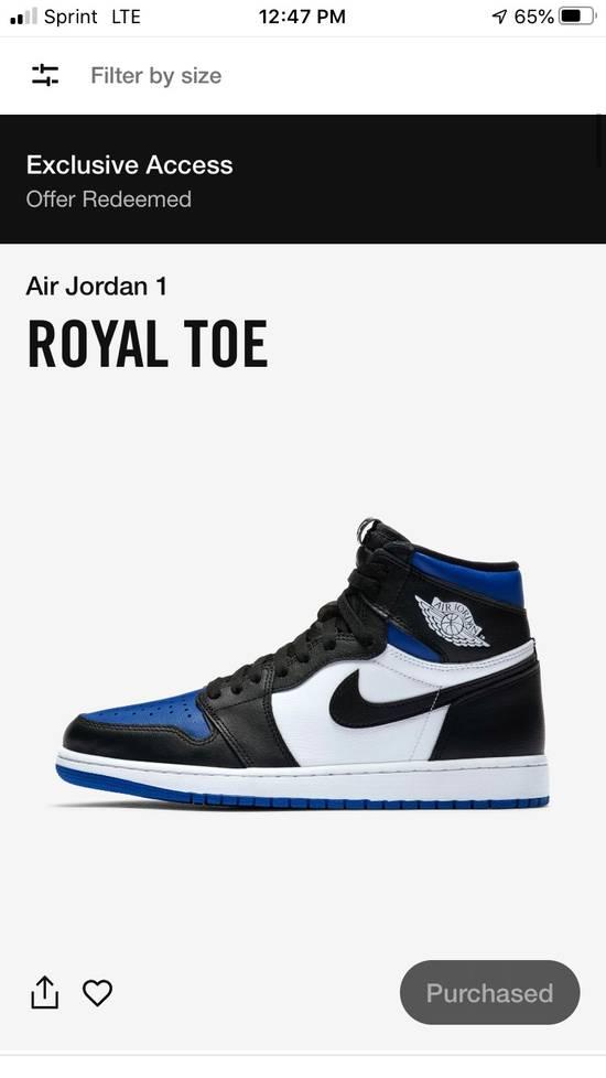 Nike Air Jordan 1 Retro High OG Royal Toe Size US 9 / EU 42