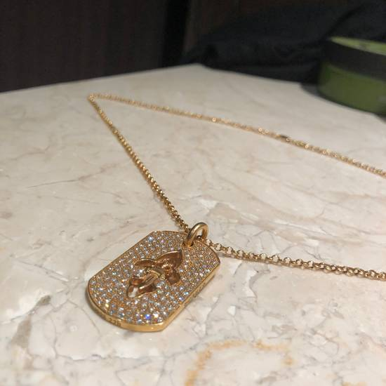 Chrome Hearts 22k Gold Dagger Dog Tag With Paved Diamonds Size ONE SIZE