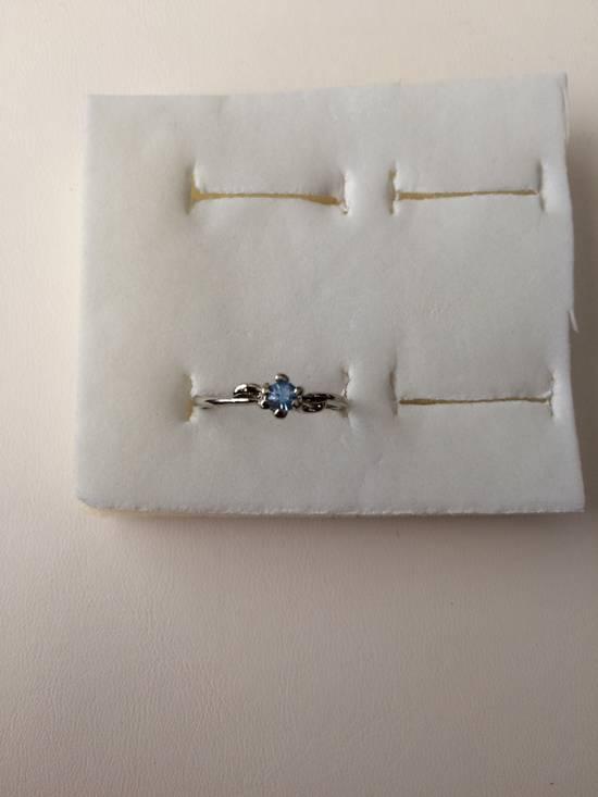 Jw Blue Cz Tibetan silver ring - size 7.5 Size ONE SIZE
