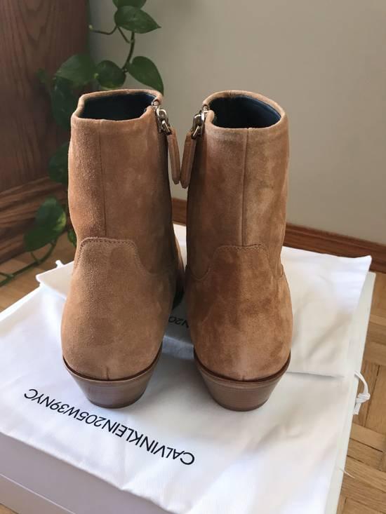 Raf Simons EU43 - Caramel Brown Calf Leather Suede Western Boots - SS18 Size US 10 / EU 43 - 6
