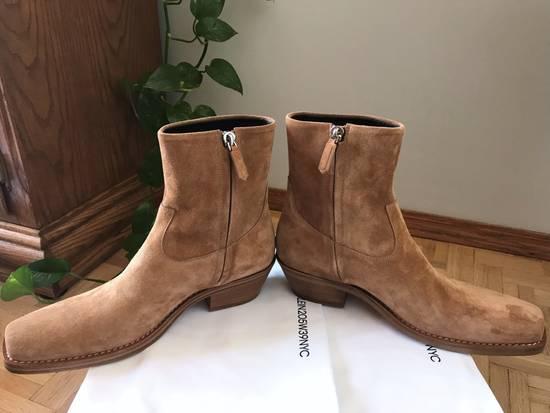 Raf Simons EU43 - Caramel Brown Calf Leather Suede Western Boots - SS18 Size US 10 / EU 43 - 8