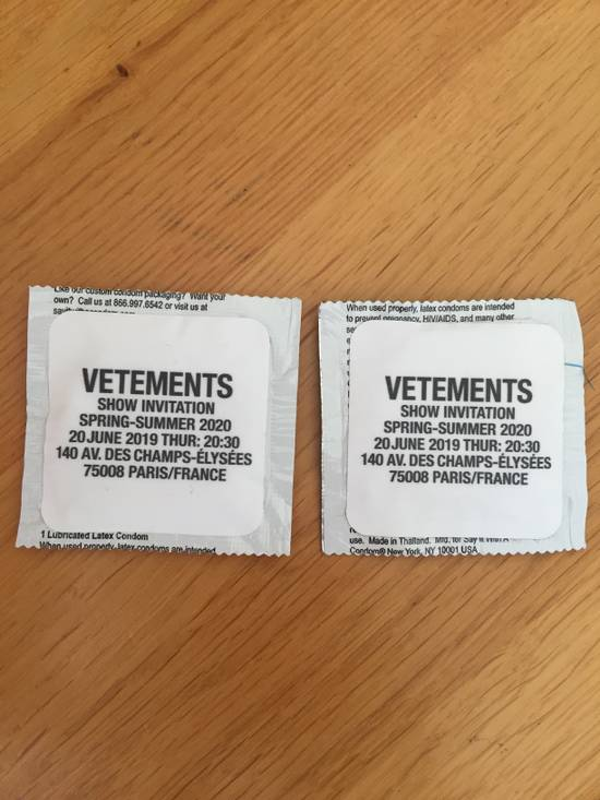 Vetements Vetements condoms Size ONE SIZE - 1