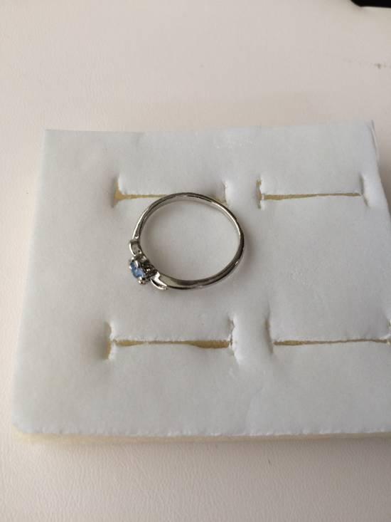 Jw Blue Cz Tibetan silver ring - size 7.5 Size ONE SIZE - 1