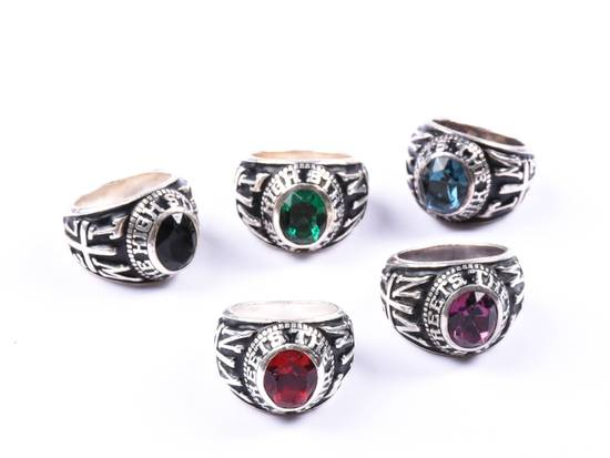 Number (N)ine AW05 Infinity Stones THS Championship Class 5x Ring Set Size ONE SIZE - 2