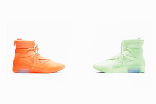 "Nike Air Fear of God 1 ""Orange Pulse"" and ""Frosted Spruce"" Drop June 1"