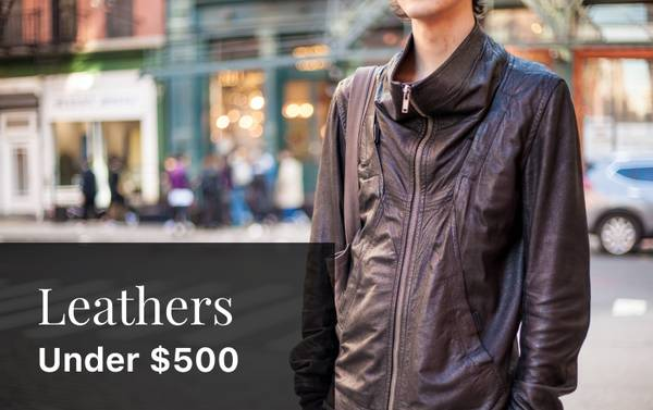 """Hide"" and Seek: Yohji, Rick, Margiela and CdG Leather Jackets Under $500"