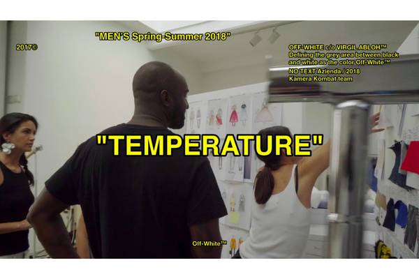 """Off-White Releases Spring/Summer 2018 Documentary """"TEMPERATURE"""""""