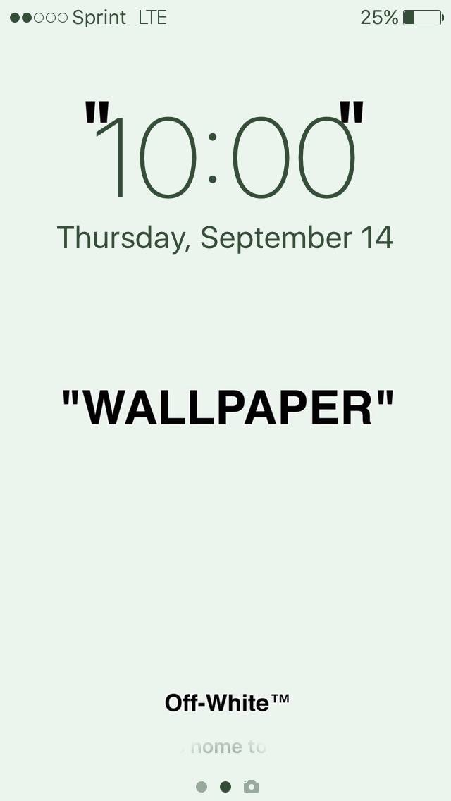 Off White WALLPAPER Size ONE
