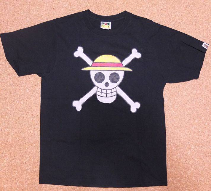 Bape Bape X One Piece Straw Hat Symbol Flag Tee Size M Short