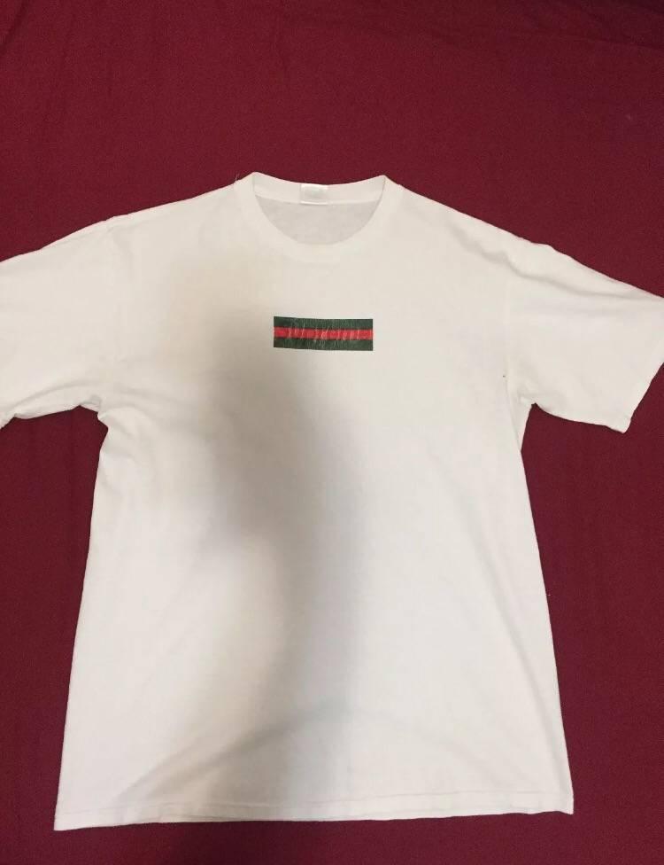 supreme supreme x gucci box logo t shirt size l short sleeve t