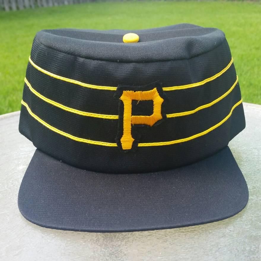 ... reduced vintage rare 70s 80s pittsburgh pirates pillbox hat size 08348  1c558 1b5088bde3cb