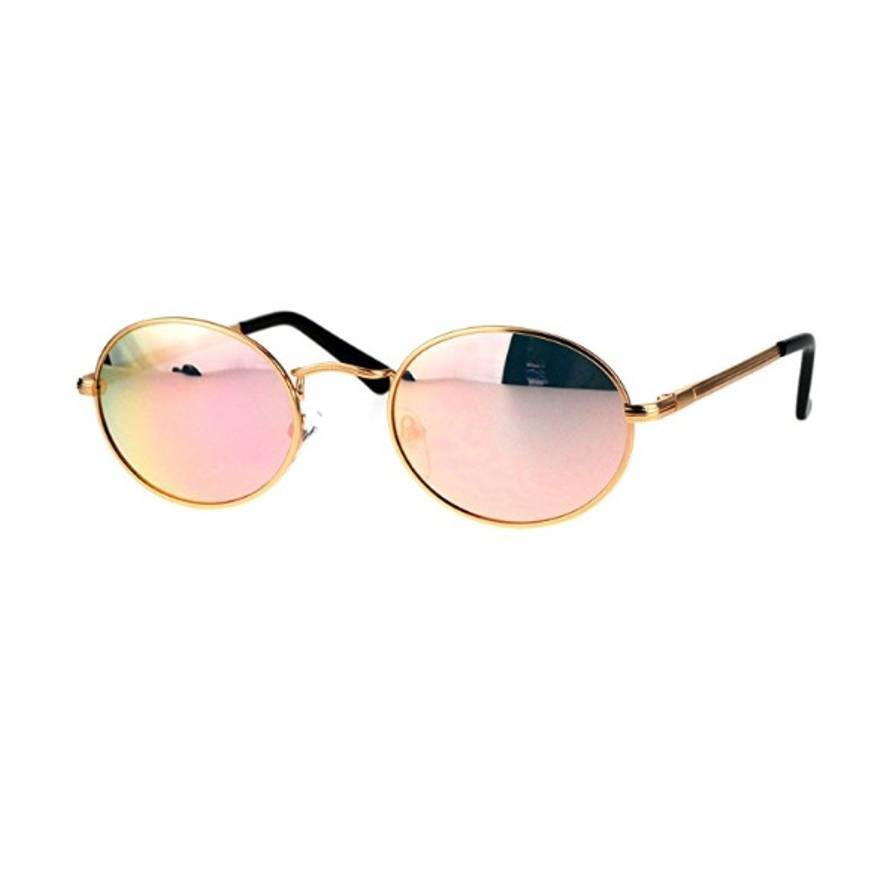 Syndicate Vintage Pink And Gold Mirrored Cartier Styled Sungl Size One