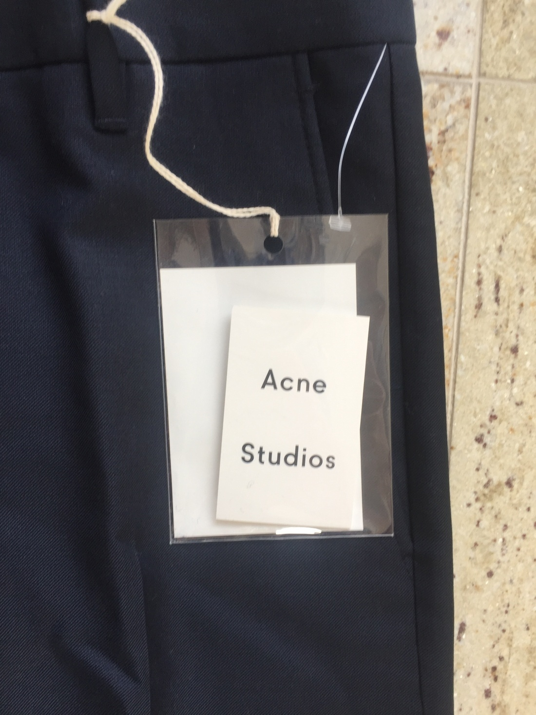 acne studios drifter navy slacks size 30 casual pants for sale grailed. Black Bedroom Furniture Sets. Home Design Ideas